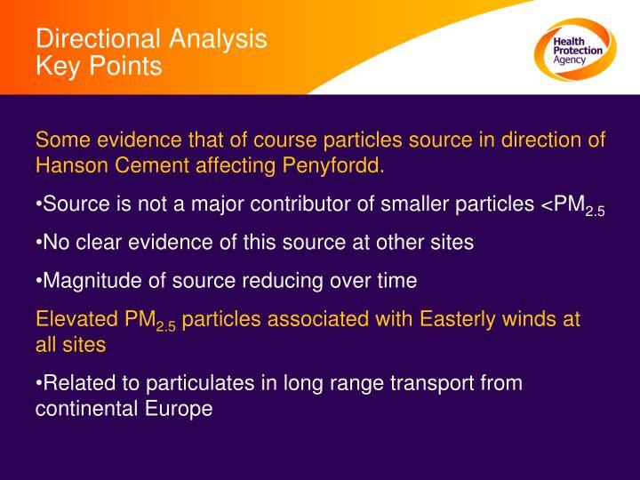 Directional Analysis