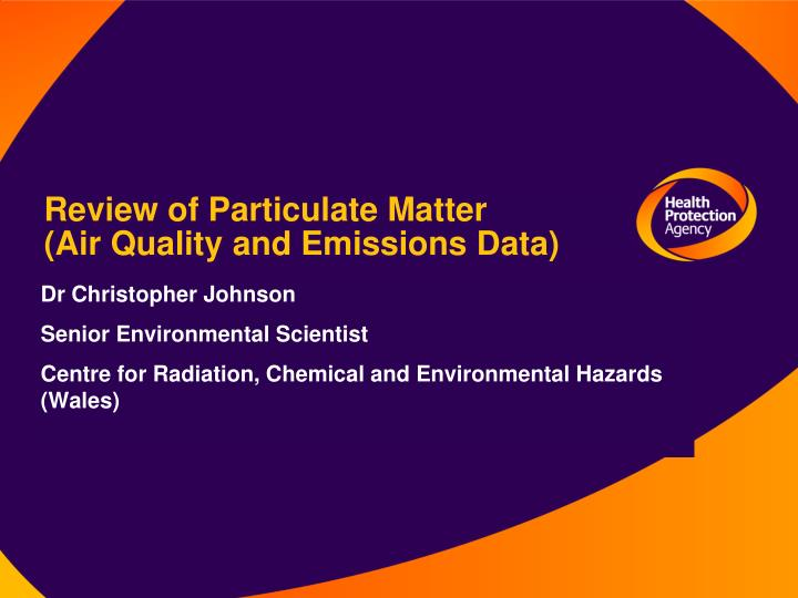 Review of Particulate Matter