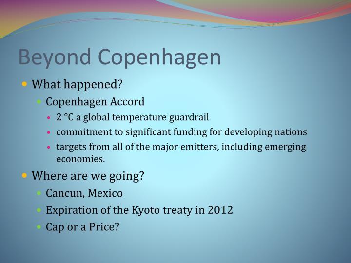 Beyond Copenhagen