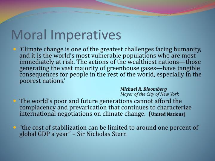 Moral Imperatives