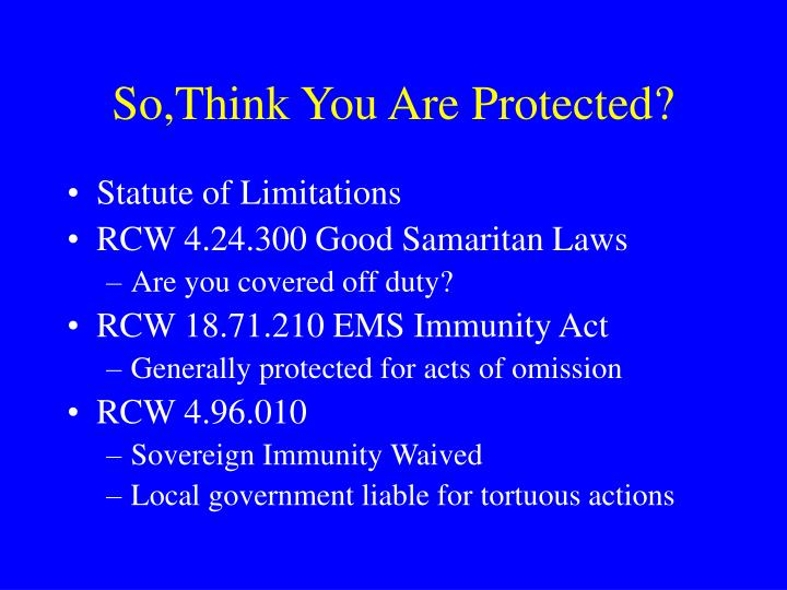 So,Think You Are Protected?