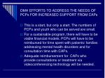 omh efforts to address the needs of pcps for increased support from caps1