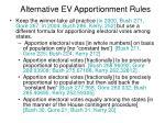 alternative ev apportionment rules
