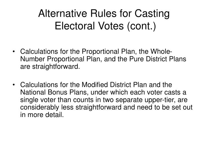 Alternative Rules for Casting