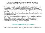 calculating power index values1