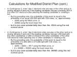 calculations for modified district plan cont1