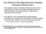can electoral vote apportionment equalize individual voting power