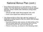 national bonus plan cont