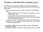 problems with banzhaf s analysis cont