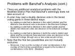 problems with banzhaf s analysis cont1