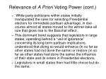 relevance of a priori voting power cont