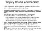 shapley shubik and banzhaf