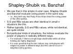 shapley shubik vs banzhaf