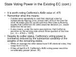 state voting power in the existing ec cont1
