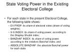 state voting power in the existing electoral college