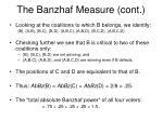 the banzhaf measure cont1