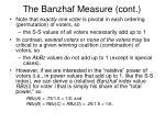 the banzhaf measure cont2