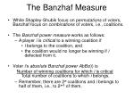 the banzhaf measure