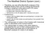 the modified district system cont2