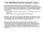 the modified district system cont3