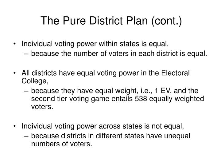 The Pure District Plan (cont.)