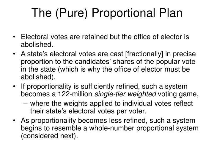 The (Pure) Proportional Plan