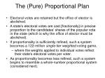 the pure proportional plan