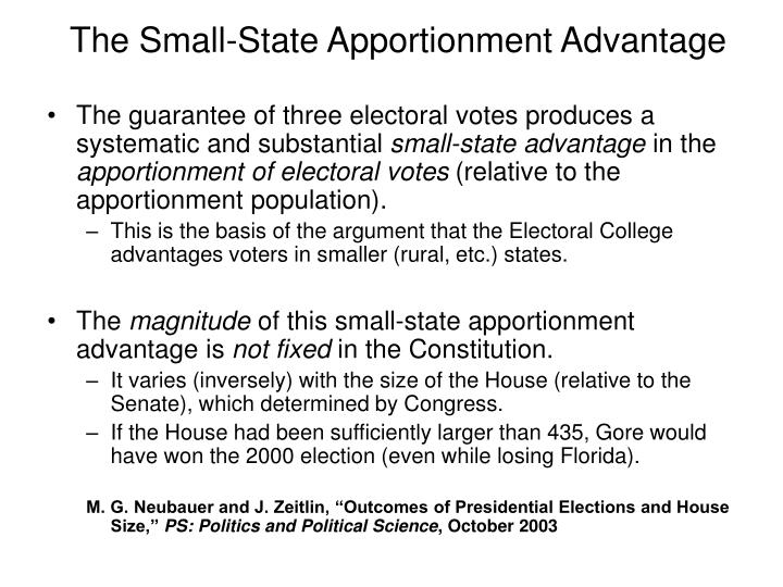 The Small-State Apportionment Advantage