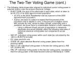 the two tier voting game cont1