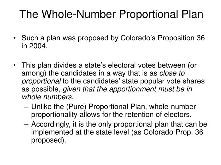 The Whole-Number Proportional Plan