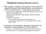 weighted voting games cont2