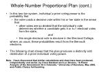 whole number proportional plan cont