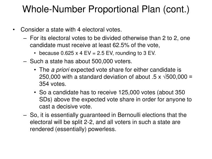 Whole-Number Proportional Plan (cont.)