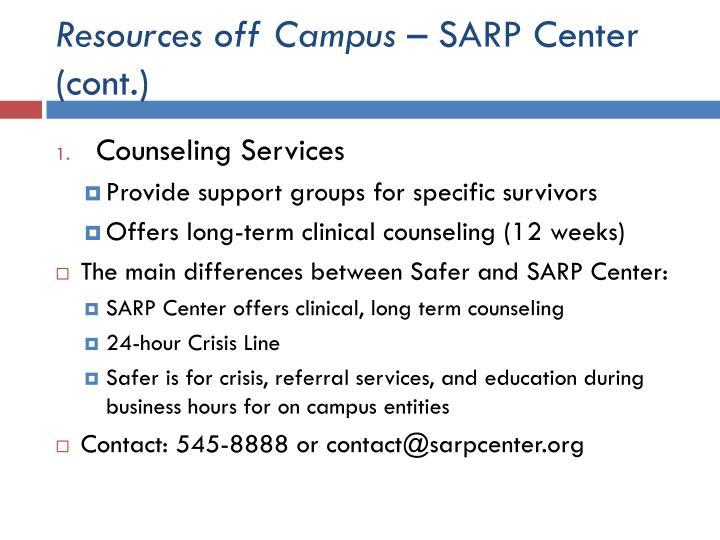 Resources off Campus