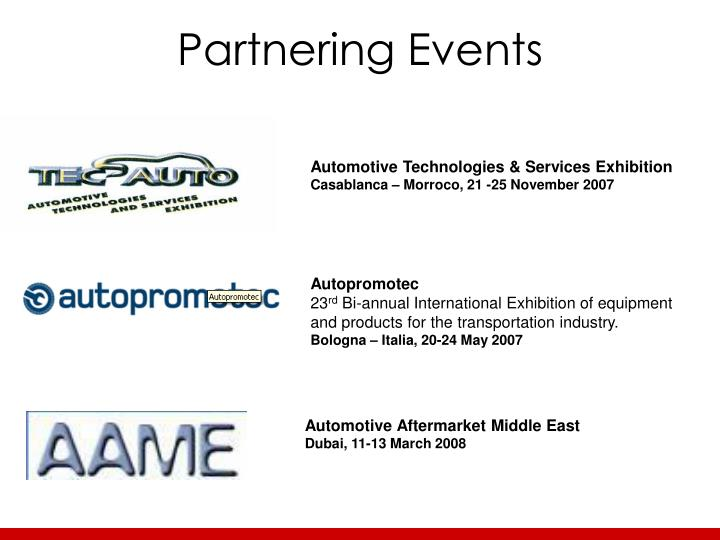 Partnering events