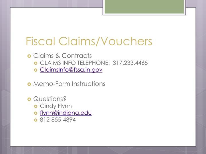 Fiscal Claims/Vouchers