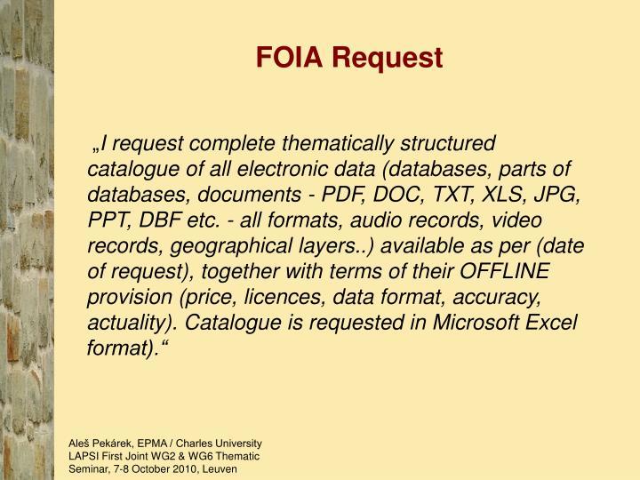 FOIA Request
