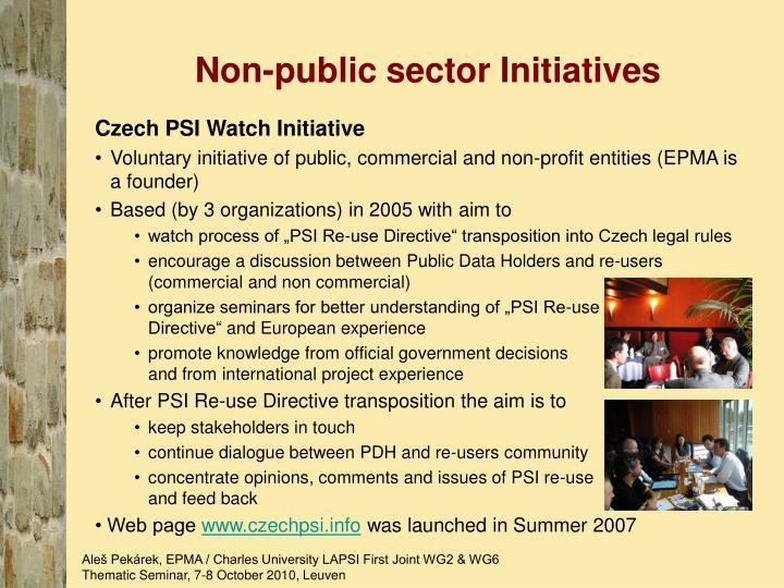 Non-public sector Initiatives