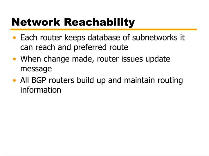 Network Reachability