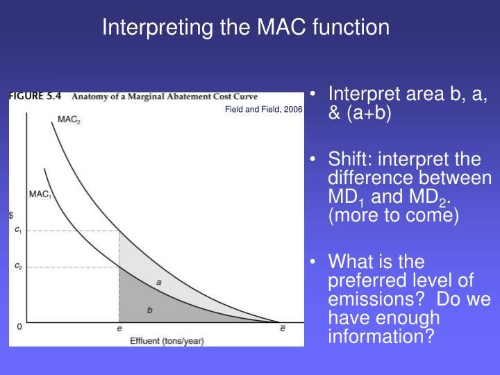 Interpreting the MAC function