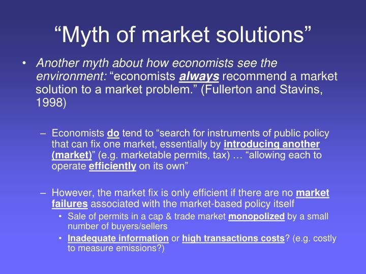 """Myth of market solutions"""