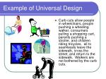 example of universal design