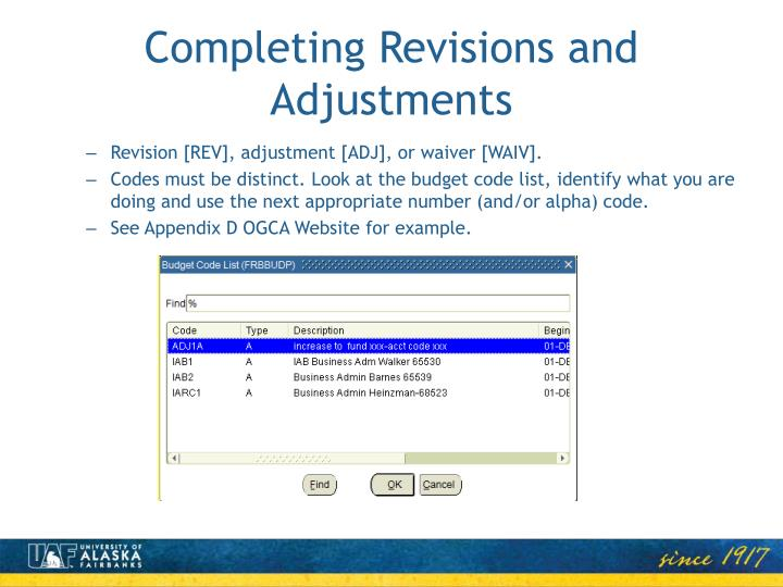 Completing Revisions and Adjustments