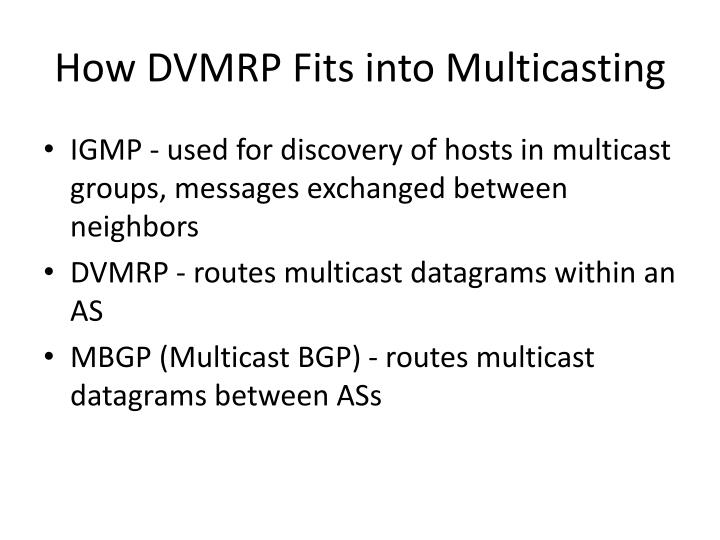How DVMRP Fits into Multicasting