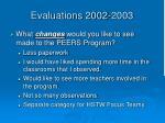 evaluations 2002 20031