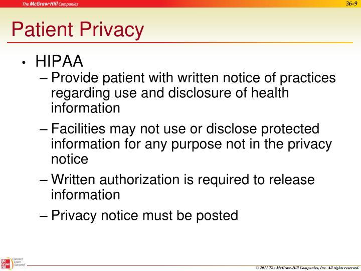 Patient Privacy