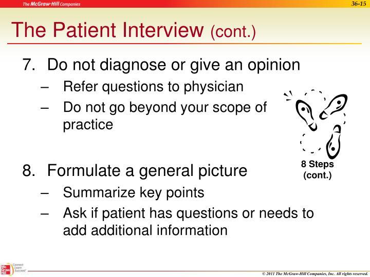 The Patient Interview