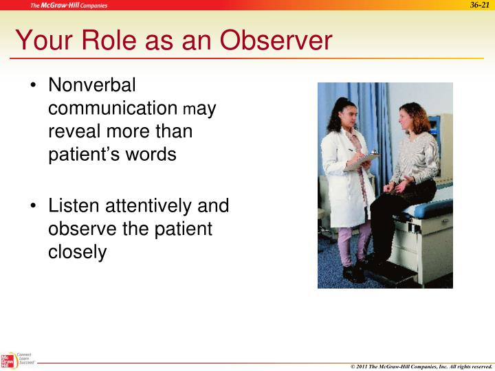 Your Role as an Observer