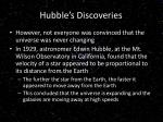hubble s discoveries