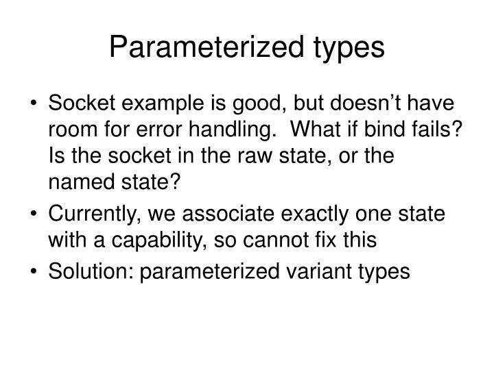 Parameterized types